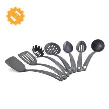 Certificación LFGB 7 piezas de utensilios de cocina de gran tamaño con mango doblado