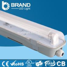 Fábrica de Zhongshan Tubo doble 4ft 36W IP65 Luz de la Tri-Prueba del LED para el garage