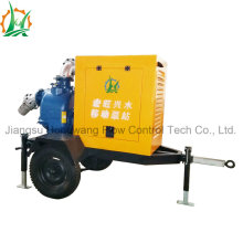 Rainproof Semi Closed Canopy Diesel Self Priming Water Pump