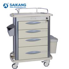 Trole médico dos cuidados da emergência durável do ABS do hospital SKR-MT310
