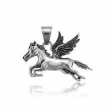 34507 xuping fashion black gun couleur acier inoxydable bijoux pendentif en forme d'aile de cheval