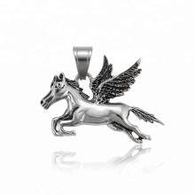 34507 xuping fashion  black gun color Stainless Steel jewelry  horse wing shape pendant