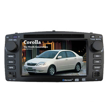 2DIN Car DVD-Player Fit für Toyota Corolla E120 2003 mit Radio Bluetooth-Stereo-TV-GPS-Navigationssystem