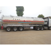 Remolque cisterna de combustible de aleación de aluminio de 33.6 toneladas