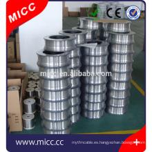 cable eléctrico de la resistencia de calefacción del níquel-cromo