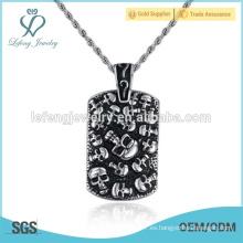 Collar pendiente del estilo de la roca del acero inoxidable de la joyería punky de la alta calidad