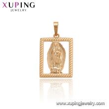 33727 xuping novo design retângulo de ouro retrato pingente de moda religiosa