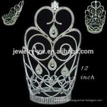 Kristall voll runde Krone Tiara Elf Überraschung Weihnachten Festzug Kronen
