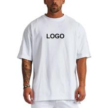 wholesale unisex oversize advertising plain quick dry t-shirt white blank Cotton mens t shirt