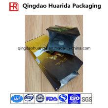 Plastikseitenfaltenbeutel-Kaffeebohnen-Verpackungs-Tasche mit Ventil