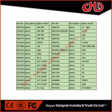 Piston moteur diesel pour B3.3 4BT3.9 6BT5.9 6CT8.3 6L8.9 ISBe ISDe ISLe QSB QSC QSL ISF M11ISM QSM K19 K50 QSK ISX QSX NT855