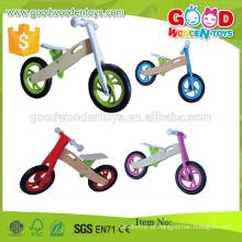 Bicicleta de madeira de alta qualidade de venda quente, bicicleta de equilíbrio de madeira popular, bicicleta nova moda para crianças