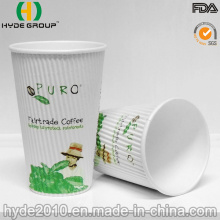 Corrugted Disposable Coffee Paper Cup, Ripple Wall Paper Cup (12oz)