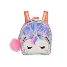 Wholesale Girls Children Popular Waterproof Rainbow Laser PVC Transparent Color Leisure School Backpack Bag