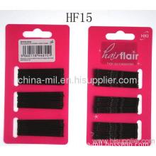 Black Plain Metal Hair Pins