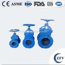 rubber seal flanged cast iron non rising stem wedge gate valve