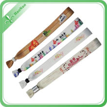 Sublimated Printed Technique and Sports Theme One Time Wristband