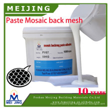 mosaic glue be apply on mosaic backing mesh