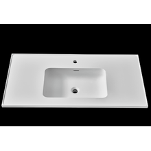 "24"" stone resin embedded washbasin for bathroom cabinet"