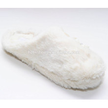 Elegant princess style white slipper with flowers shoes