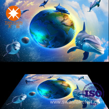 3D High Digital Printing Sea World Pattern Floor Carpet