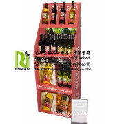 Four Tiers Display Shelf for Red Wine Supermarket Retail Display