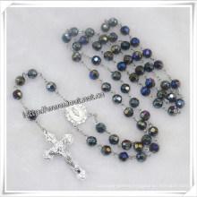 Religious 8mm Glass Beads Rosary (IO-cr333)