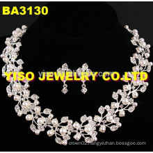 fashion layered crystal jewelry set
