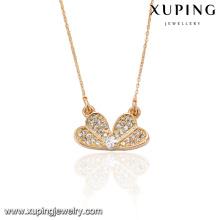 41663 xuping Collier en or avec bijoux de mode en cuivre pour l'environnement