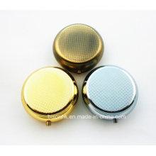 Qualitäts-silberner runder Pille-Kasten, silberner Pille-Kasten