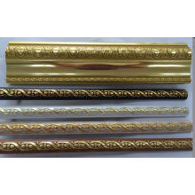 Golden/Coffee/Wooden/White Color PS Decoration Moulding Cornice