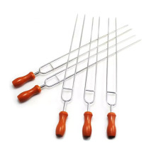 3pcs en acier inoxydable barbecue ensemble brochette
