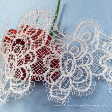 White Embroidery Tulle Lace Trim
