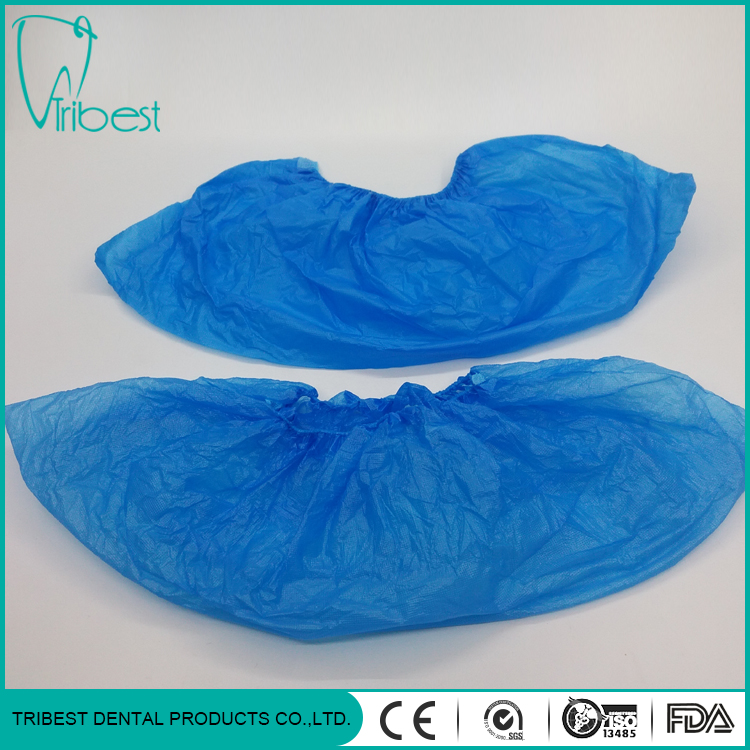 Disposable Surgical Blue CPE Shoe Cover