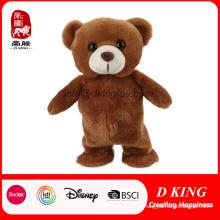 Boneca animal feita sob encomenda do urso de peluche do brinquedo do luxuoso com poder do banco