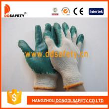 Algodón / Poliéster Liner Latex suave acabado guante (DKL314)