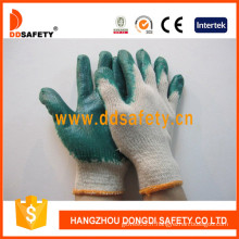 Coton / Polyester Liner Latex Smooth Finished Glove (DKL314)