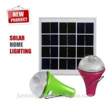 Novo produto solar para 2015 interiores e exteriores de iluminação, luz solar recarregável com carregador do telefone móvel