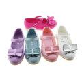 Kleid Mode Ballerina Schuhe Wohnungen mit Bogen