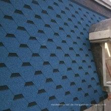 Blaues Dachziegel / Johns Manville Asphalt-Schindel / selbstklebendes Überdachungs-Material (ISO)