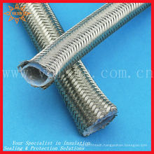 High pressure and temperature resistant stainless steel braided ptfe tubing