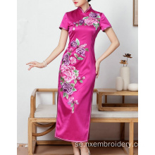 Handbroderi Phoenix Peony Slim Women's Dress