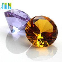 Diamant en verre de cristal de Sunny Diamond décoratif facetté 80MM pour des souvenirs de mariage