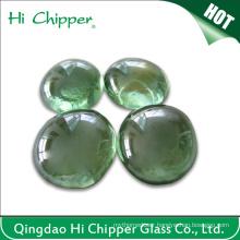 Light Green Glass Gemstone Fire Pit