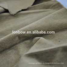 Gran selección de telas tejidas de terciopelo limpio y tupido para la ropa