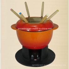Esmalte de hierro fundido Cookware fabricante de China Fondue