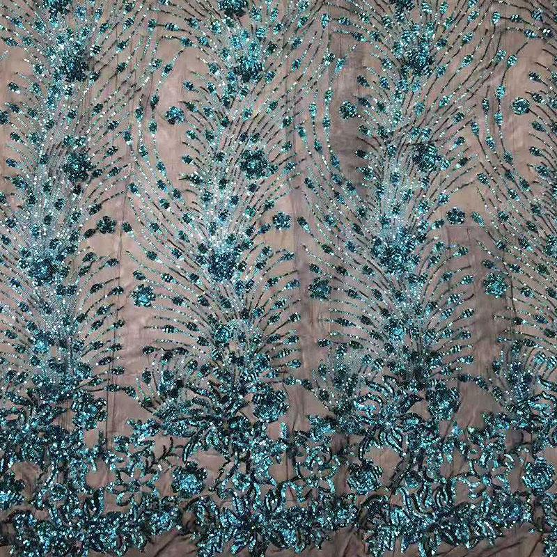 Metallic Glitter Mesh Embroidery Lace Fabric