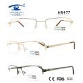 Moldura de óculos de metal Half Frame de homem popular