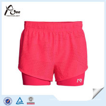 High Quality Girl Running Wear Running Shorts with Base Layer