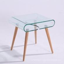 Verre trempé de style moderne pour table basse